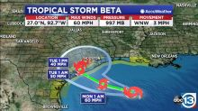 Tropical Storm Beta's rain impacts begin today