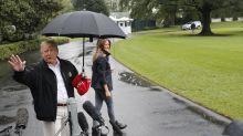 Twitter Takes Umbrage At Trump's Umbrella Etiquette That Left Melania Uncovered