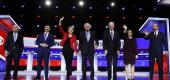 Seven Democratic candidates gathered in Charleston, S.C. (Reuters)
