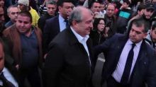 President Armen Sarkisian Visits Protesters, Speaks with Opposition Leader During Yerevan Rally
