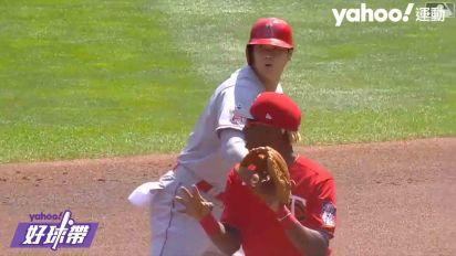 大谷翔平跑壘小凸槌 不過沒關係還有開轟跟盜壘演出  - Yahoo好球帶#0726-2