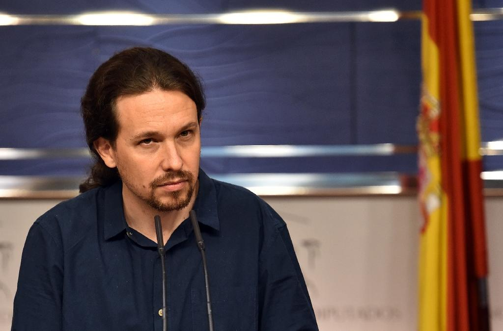 Podemos leader Pablo Iglesias has gained millions of supporters with his anti-austerity message (AFP Photo/Gerard Julien)