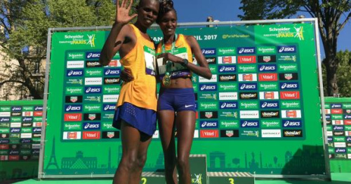 Athlé - Marathon de Paris - Le couple kenyan Paul Lonyangata et Purity Rionoripo remporte le marathon de Paris