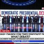 Impeachment inquiry overshadows Democratic presidential debate