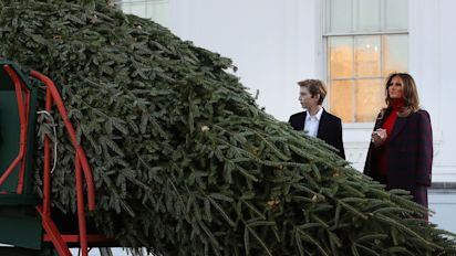 Melania Trump Had Two Outfit Changes To Decorate Her Christmas Tree