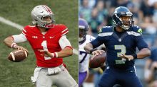 Bears' Jimmy Graham: Justin Fields 'reminds me of Russell Wilson'