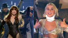 Paula Abdul Accidentally Hits Julianne Hough In Throat With Flying Hat