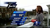 Expect mostly cloudy, breezy conditions through this evening