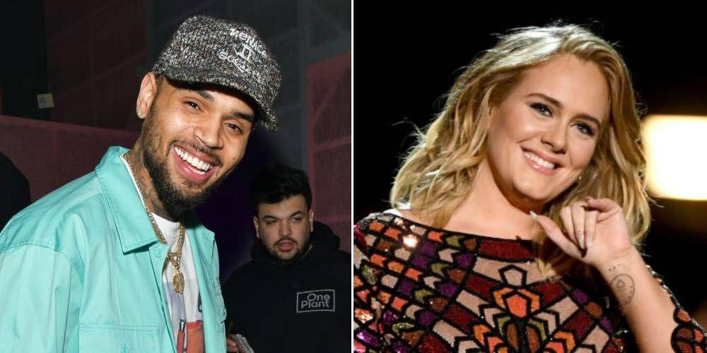 Chris Brown And Adele Have Been Hanging Out In London Apparently