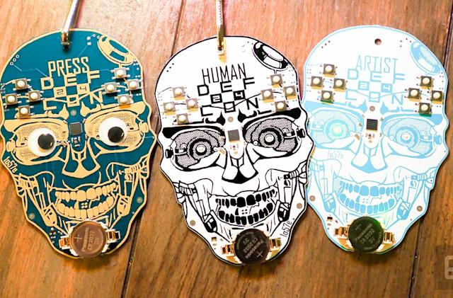 The incredibly intricate badges of Def Con