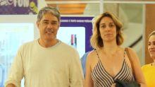 William Bonner curte passeio romântico com a noiva no Rio