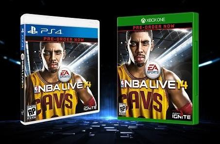 Cavaliers' Kyrie Irving is the cover athlete for NBA Live 14