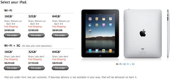 iPad pre-order is go -- will you buy one?