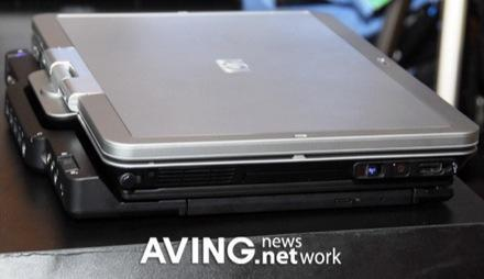 HP Compaq's 2710p Tablet PC in the wild and shipping