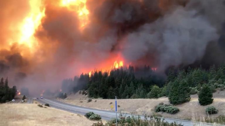 California wildfire spreads with flames shooting 300 feet high as evacuations continue