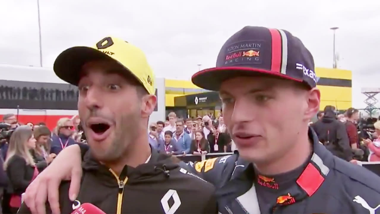 'F**k you': Daniel Ricciardo and former teammate's hilarious interview