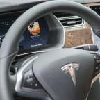 Tesla autopilot car crash leaves two men dead