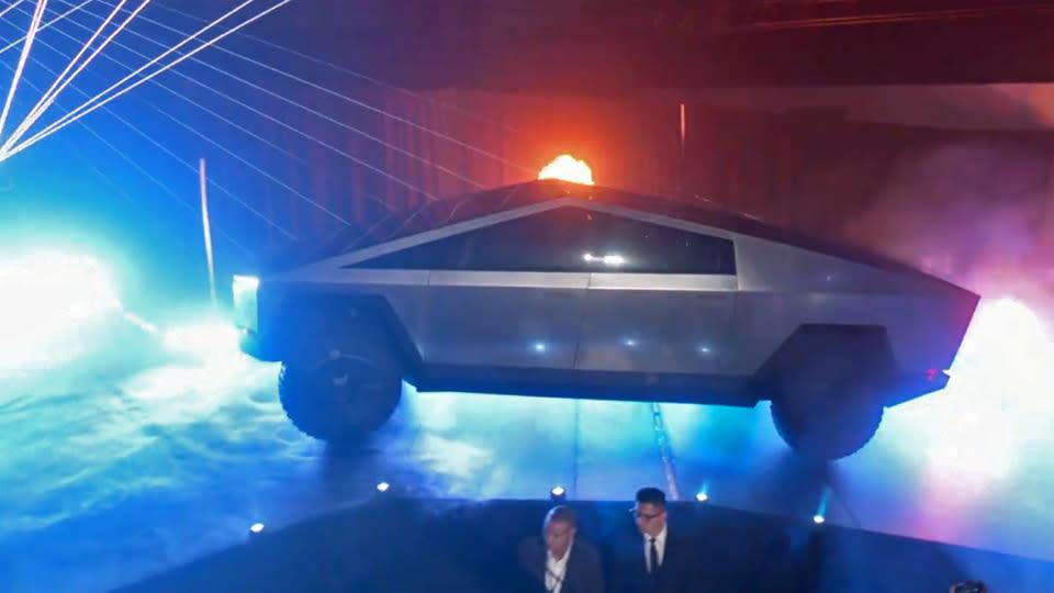 Tesla unveils futuristic CyberTruck electric pickup truck