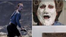Mark Zuckerberg abusa do protetor solar na hora do surf e vira meme