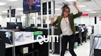 Girl quits her job in the best way possible