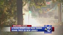 Power line catches fire in New Jersey