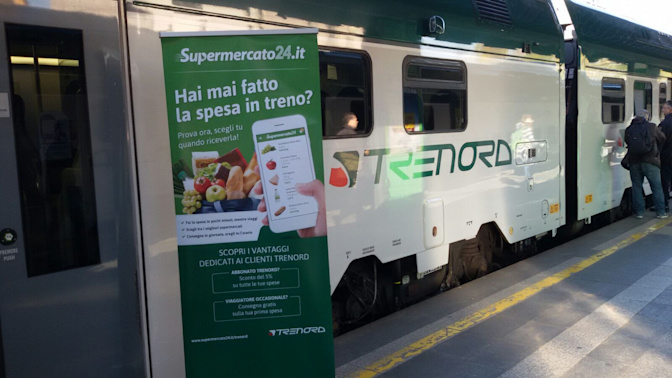 Fare la spesa dal treno? Oggi è possibile