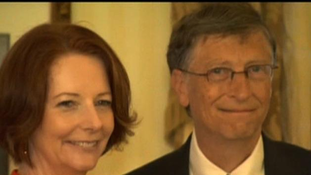 Bill Gates pushing for aid increase