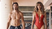 Halle Berry Wears a 'Baywatch'-Inspired Red One-Piece to the Beach