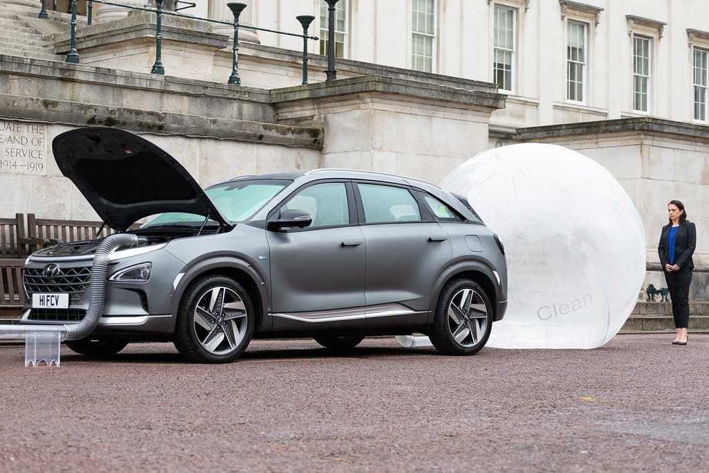 氫燃料電池車不只碳排放,現代氫燃料電池車Nexo還會過濾路上的髒