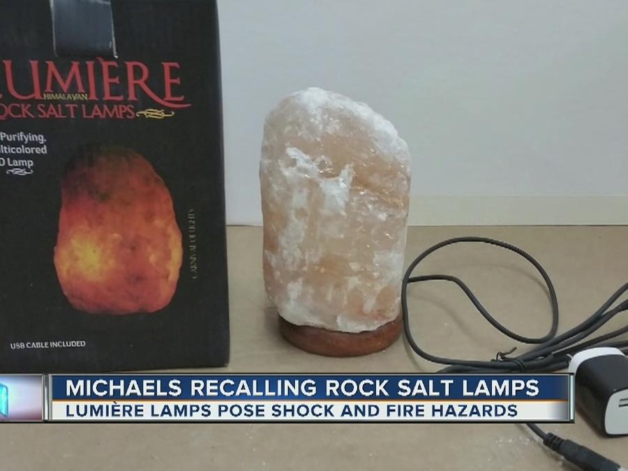 Michaels recalling rock salt lamps [Video]