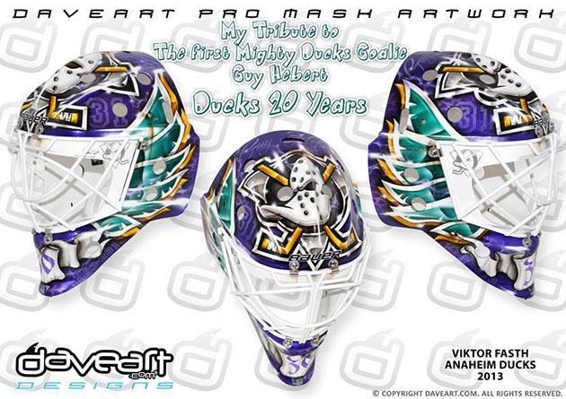 Mighty Ducks return on Viktor Fasth s awesome new mask b4a041f96