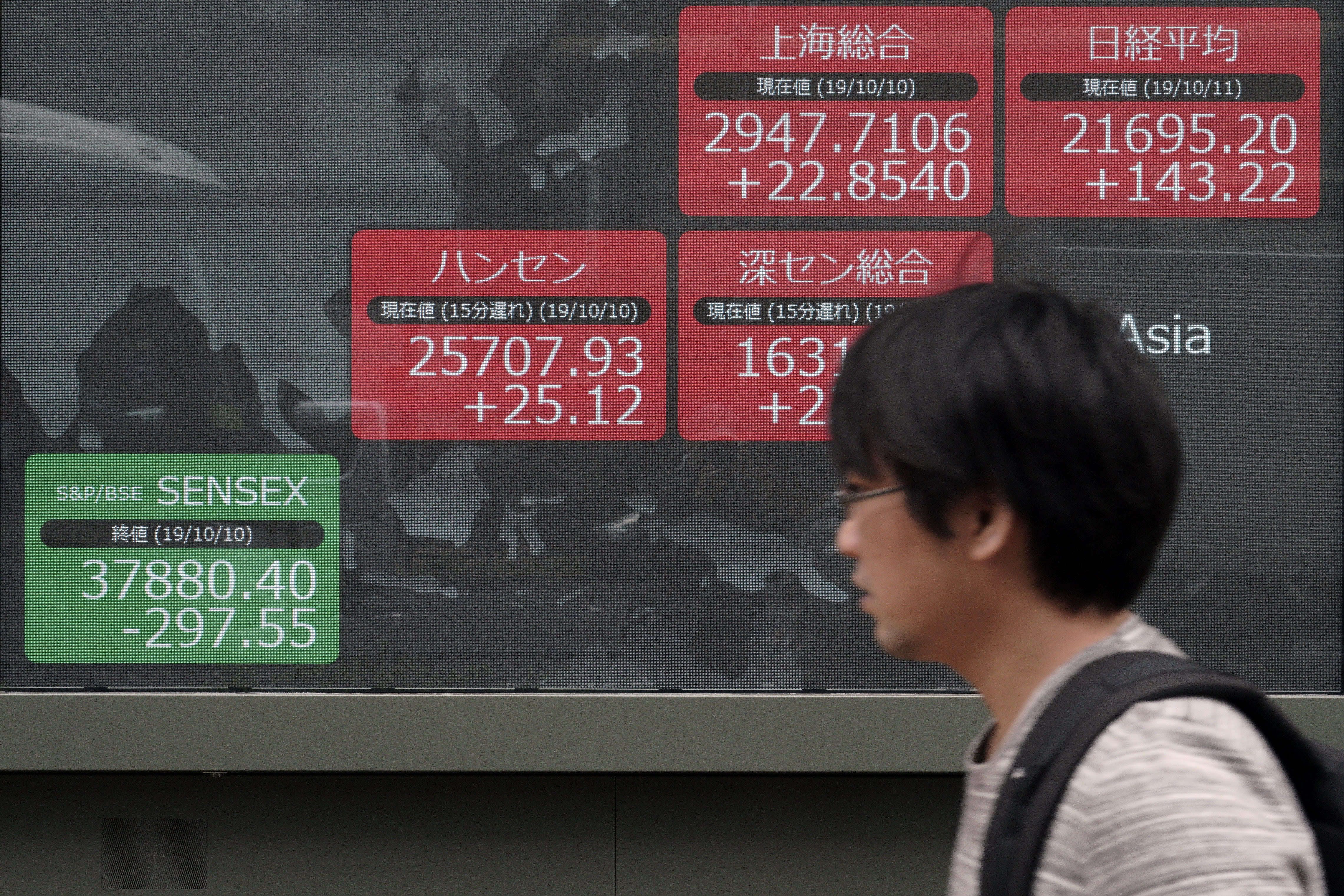 Asian shares mixed amid uncertainties on Brexit, China trade