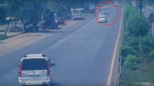 Thane Traffic Constable Knocked Down by Speeding Car to Avoid Challan, Watch Video