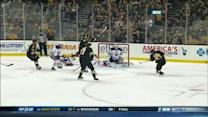 Krug buries a pass from Chara on the PP