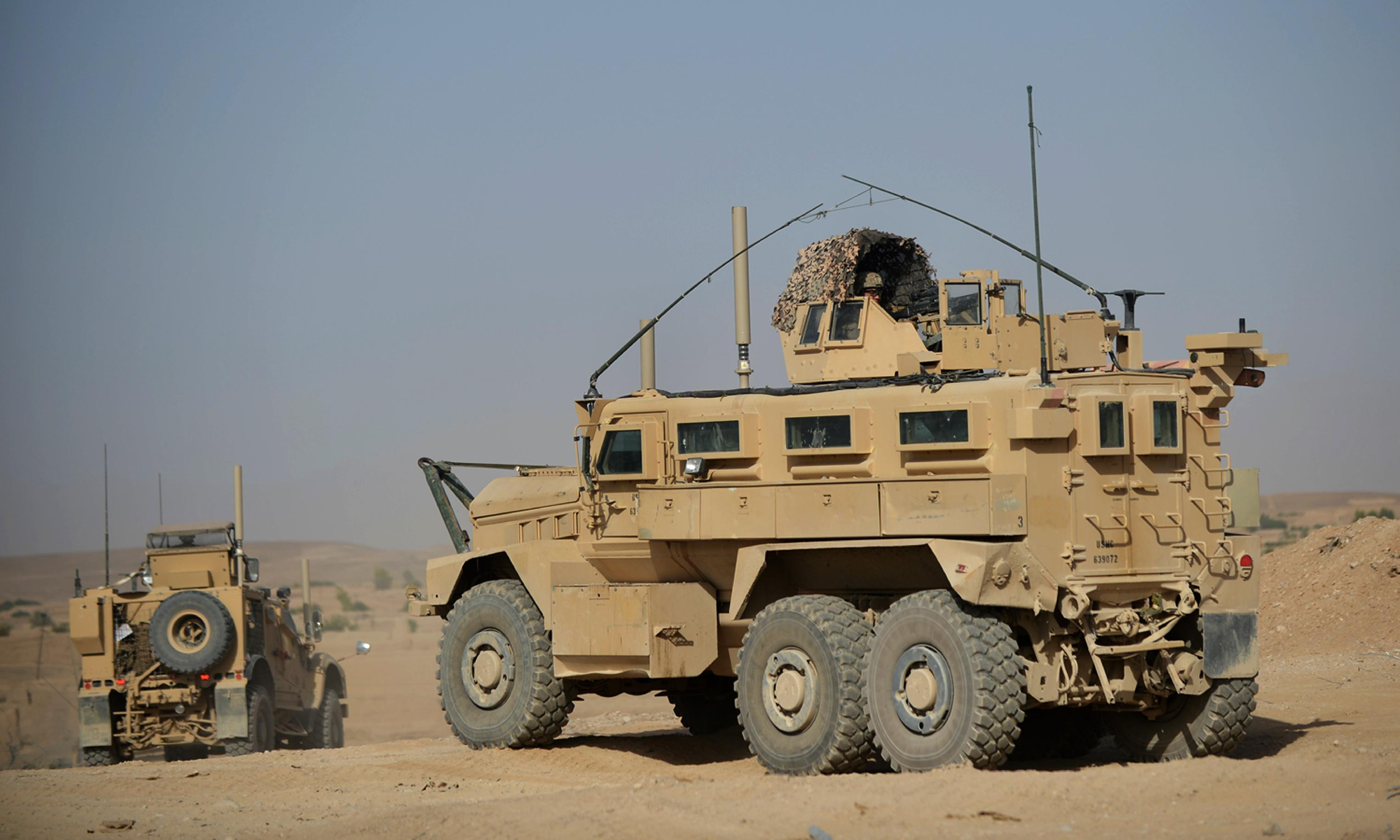 US gives Iraq army 250 mine-resistant armoured vehicles