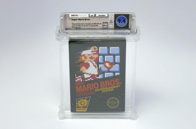 A pristine 'Super Mario Bros.' cartridge sold for over $100,000