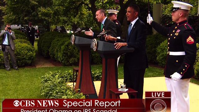 Obama: I didn't know about IRS report