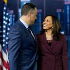 Kamala Harris' husband, Doug Emhoff, describes meeting her as 'love at first sight.' Here's a timeline of their relationship.