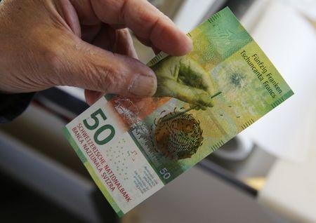 The New 50 Swiss Franc Note Is Seen At A Market Stall After Its Release By