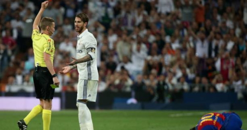 Foot - ESP - Real - Sergio Ramos (Real Madrid) trouve injuste son carton rouge contre Barcelone