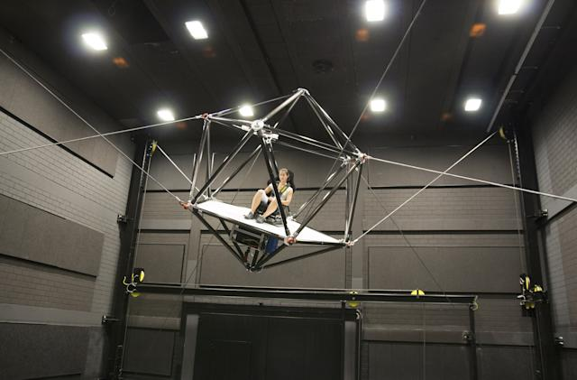 Ultimate VR simulator throws you around in mid-air