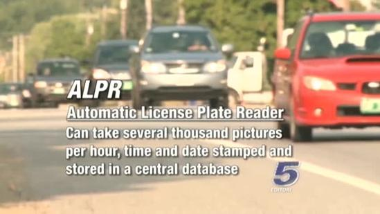 Automatic license plate reader in use in Vermont