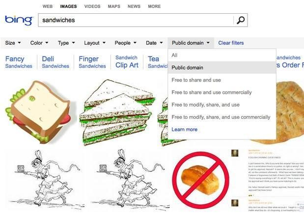 Bing adds licensing rights refinement to image search