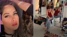 Mayra Cardi se desespera com novo closet