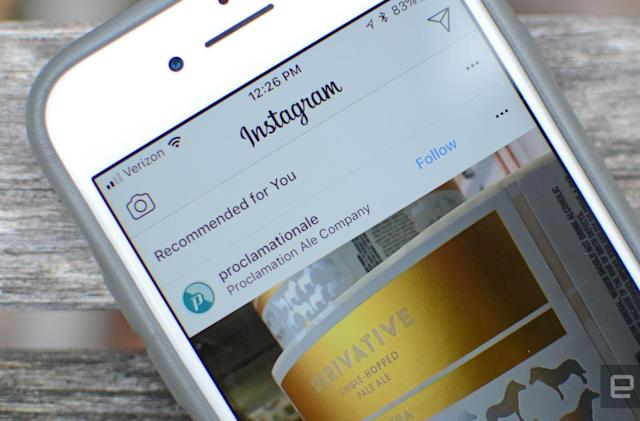 Instagram's latest test adds recommended posts to your feed