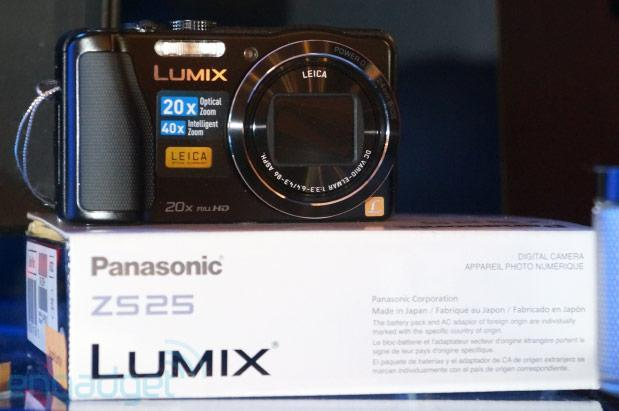 Panasonic Lumix ZS25 point-and-shoot makes an on-stage appearance ahead of CES press conference (update: hands-on)