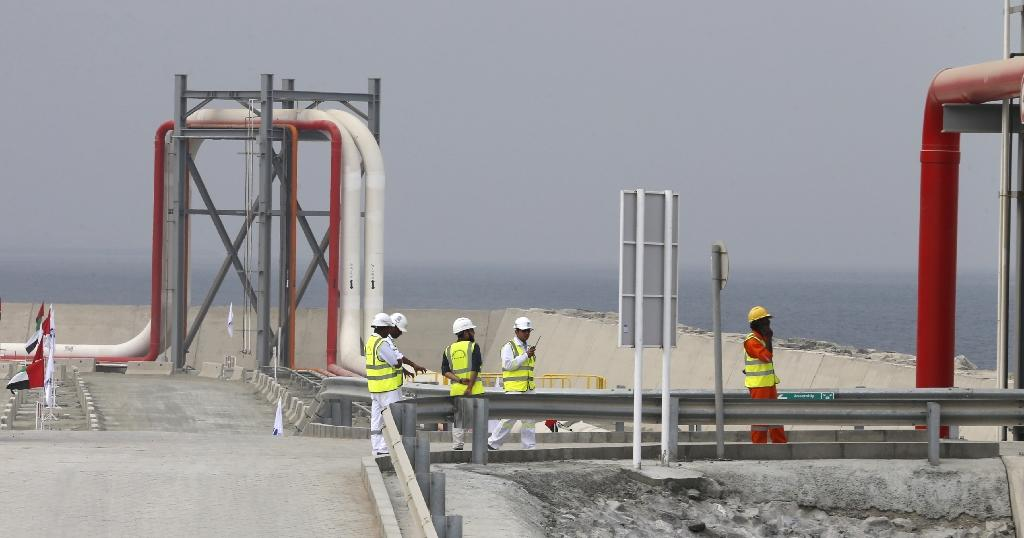 The Fujairah oil terminal in the United Arab Emirates (AFP Photo/Karim Sahib)