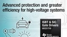 First isolated gate drivers with integrated sensing for IGBTs and SiC MOSFETs save energy and protect high-voltage systems