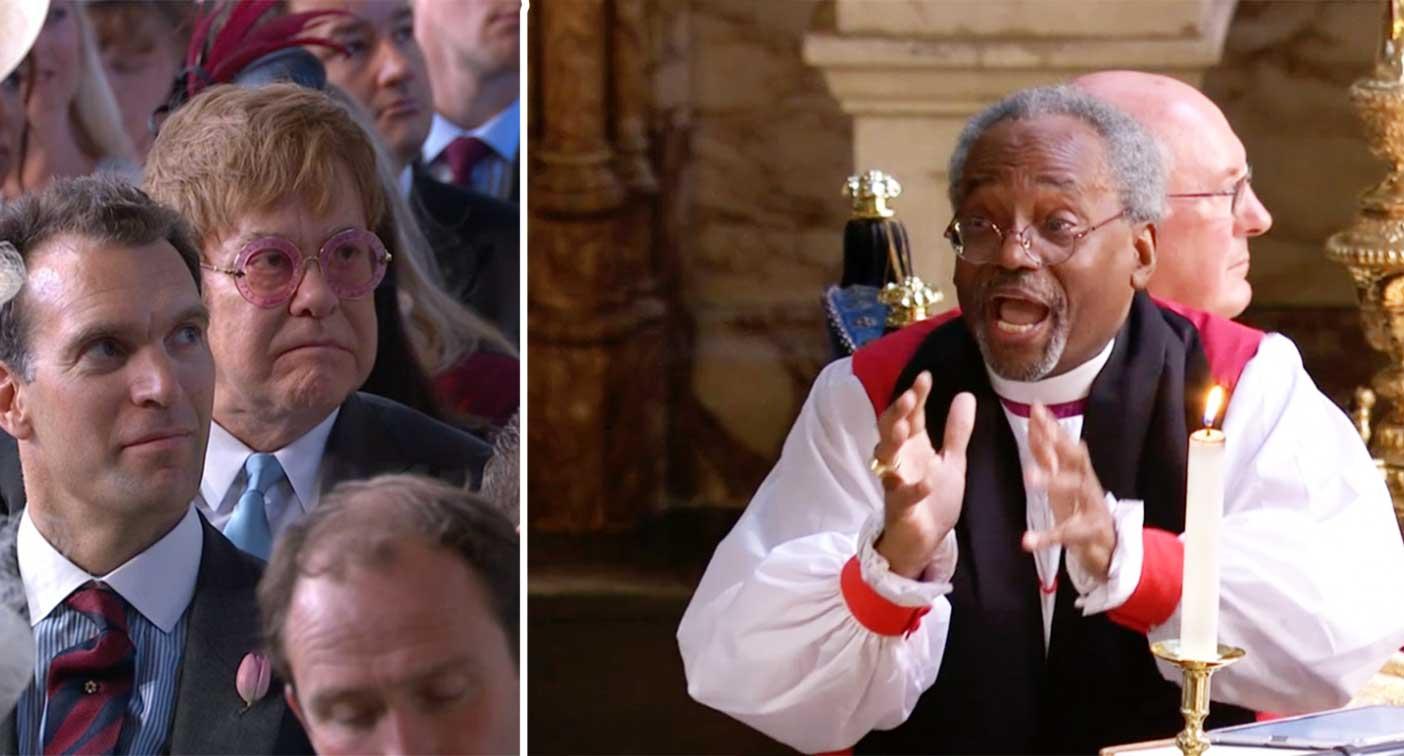 Sir Elton John S Reaction To Paster Michael Curry S Royal Wedding