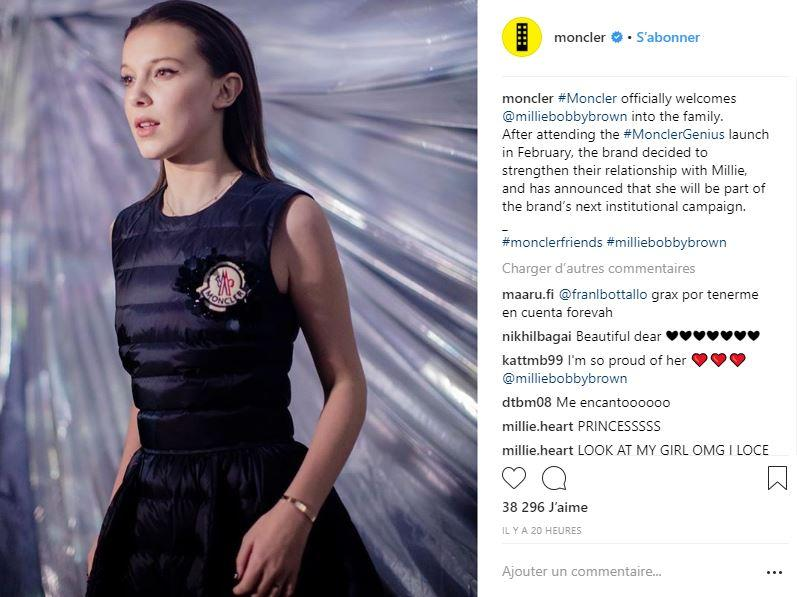 e859c7a79 Millie Bobby Brown revealed as the new face of Moncler